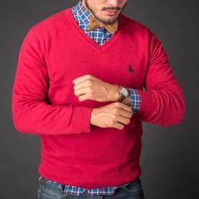 Blade + Blue Nantucket Red V-Neck Sweater