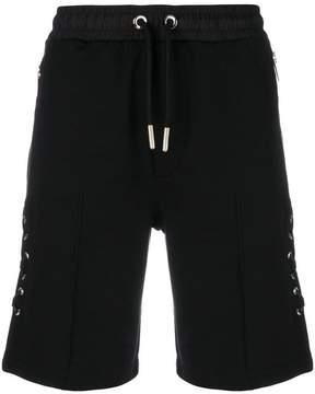 Les Hommes lace-up detail shorts