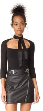 Fleur Du Mal Bodysuit with Tie Neck