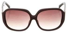 Linda Farrow Matte Oversize Sunglasses