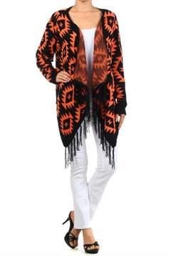 Blvd Aztec Fringe Sweater