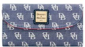 Dooney & Bourke Madison Signature Continental Clutch Wallet - DENIM - STYLE