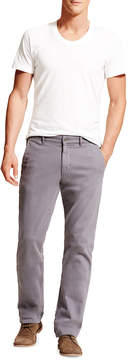DL1961 Premium Denim Casual Straight-Leg Chino Pants, Gray