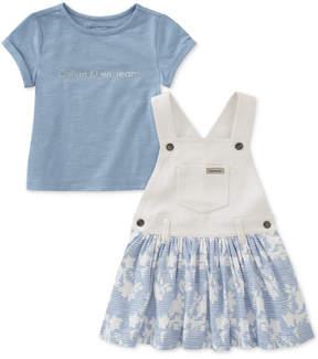 Calvin Klein 2-Pc. T-Shirt & Skirtall Set, Toddler Girls