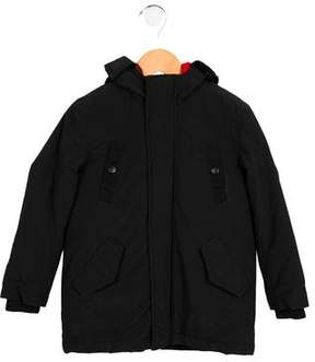 Little Marc Jacobs Boys' Hooded Layered Coat