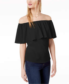 Bar III Ruffled Off-The-Shoulder Top, Created for Macy's