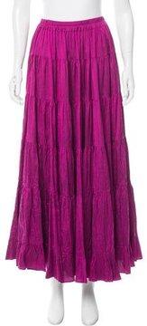 Calypso Silk Midi Skirt