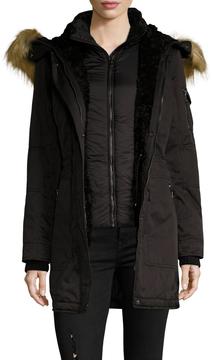 1 Madison Women's Cotton Hooded Parka