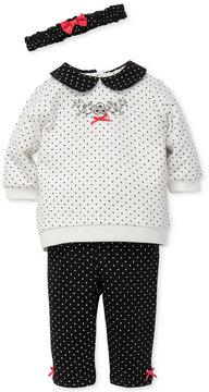 Little Me 3-Pc. Headband, Top & Leggings Set, Baby Girls (0-24 months)