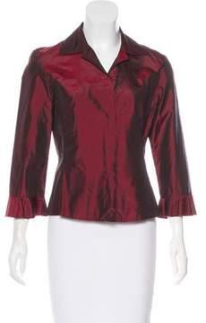 Tahari Silk Button-Up Top w/ Tags