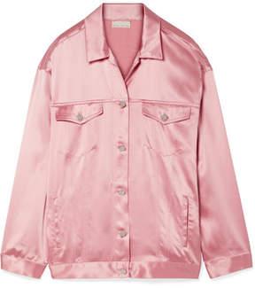 Fleur Du Mal Silk-satin Jacket - Baby pink