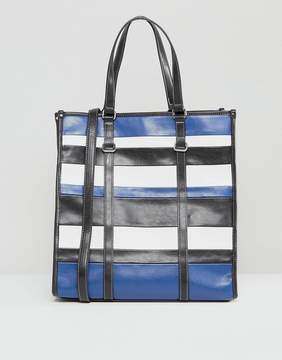 Mango Stripe Shopper Bag
