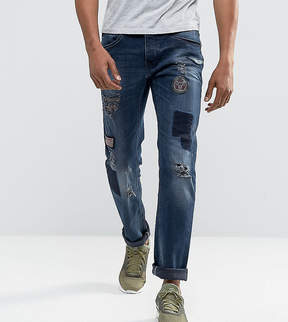 Blend of America Twister Slim Fit Patches and Badges Dark Wash
