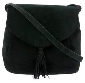 Salvatore Ferragamo Suede Tassel Crossbody Bag