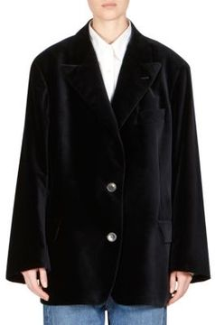 Dries Van Noten Cotton Velvet Peacoat