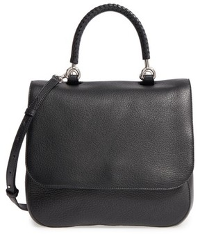 Max Mara Top Handle Leather Satchel - Black