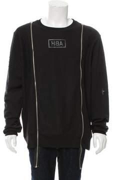 Hood by Air Double-Zip Logo Print Sweatshirt
