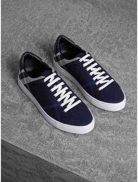 Burberry Overdyed House Check Cotton Trainers