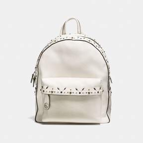 COACH Coach Campus Backpack With Prairie Rivets - CHALK/LIGHT ANTIQUE NICKEL - STYLE