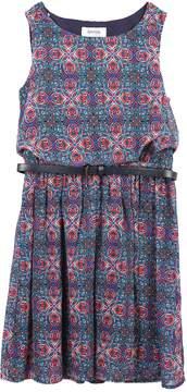 Speechless Girls 7-16 Belted Sleeveless Chiffon Dress