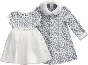 Youngland Kahn Lucas Girls' Dress And Coat Set