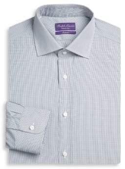 Ralph Lauren Purple Label Aston Slim-Fit Grid Check Dress Shirt