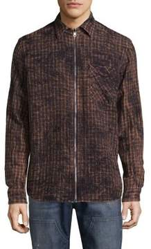 Hudson Check Zip Shirt