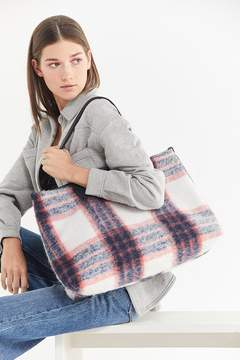 Urban Outfitters Wool Plaid Everyday Tote Bag