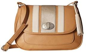 Nine West NEW All Casual Crossbody Hand Bag Purse Dark Camel / Tan 60447080