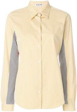 Aalto striped patchwork shirt