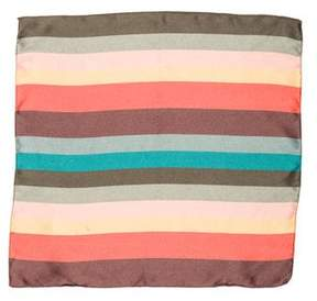 Paul Smith Striped Silk Pocket Square