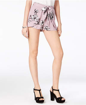 American Rag Juniors' Floral-Print Tie-Front Shorts, Created for Macy's