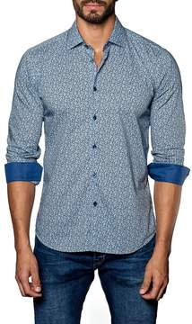 Jared Lang Woven Long Sleeve Trim Fit Shirt