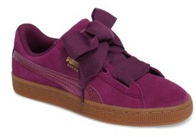 Puma Girl's Suede Heart Jr Sneaker