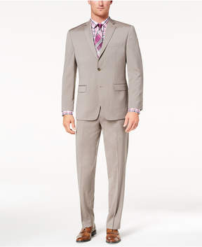 Andrew Marc Men's Classic-Fit Stretch Tan Solid Suit