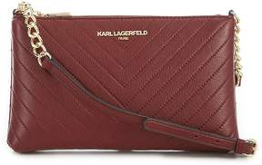 Karl Lagerfeld Paris Gorgette Chevron-Quilted Chain Cross-Body Bag