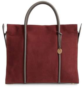 Skagen Katryn Recessed Nubuck Leather Satchel - Red