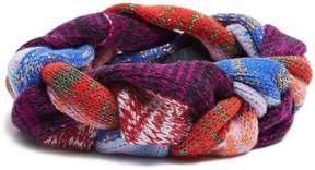 GUCCI Braided-knit wool-blend headband