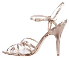 Delman Metallic Multistrap Sandals