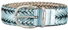 B-Low the Belt Women's Bt2140skysilver Light Blue Faux Leather Belt.