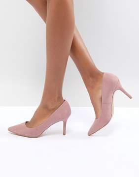 New Look Suedette Kitten heel Pointed Court