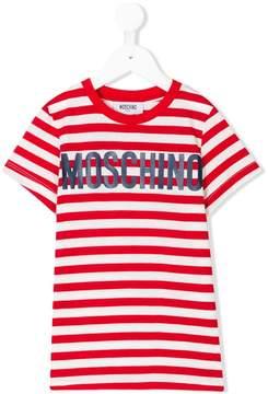 Moschino Kids striped T-shirt