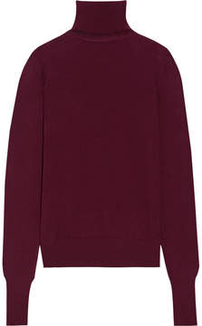 Chalayan Cutout Merino Wool Turtleneck Sweater - Burgundy