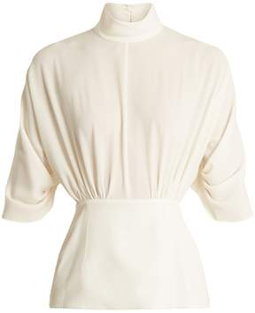 Emilia Wickstead Gee Gee high-neck crepe blouse