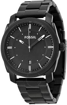 Fossil Machine Black Dial Black-plated Men's Watch