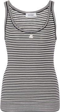 Courreges Striped Cotton-Blend Top
