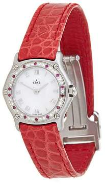Ebel Sport Classic MOP Dial Red Leather Watch