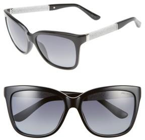 Jimmy Choo Women's 'Coras' 56Mm Retro Sunglasses - Black