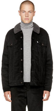 Levi's Levis Black Corduroy Good Sherpa Trucker Jacket