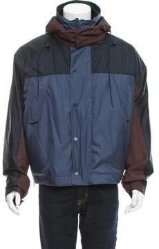 Louis Vuitton Fur-Trimmed Silk Jacket